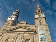 Kościół Katolickiego steeple Montreal zdjęcie stock