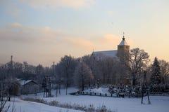 kościół krajobrazowa zimy Fotografia Stock