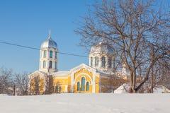kościół krajobrazowa zimy Obraz Royalty Free
