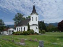 kościół kraju cmentarz Obraz Royalty Free