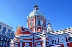 Kościół męczennik Panteleimon na ulicznym Pestel wielki uzdrowiciel i, 2 a St Petersburg zdjęcia stock