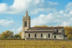 Kościół Margaux, Francja Obraz Royalty Free