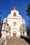 Kościół - Zidlochovice Zdjęcia Royalty Free