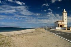 Kościół na drodze w Naturalnym parku Cabo de Gata, Nijar -, Almeria, Hiszpania Zdjęcia Royalty Free