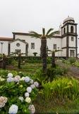 Kościół na Flores, Azores Zdjęcie Stock