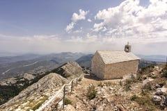 Kościół na górze biokovo Obrazy Royalty Free