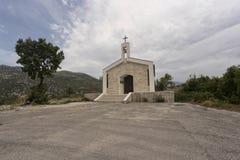 Kościół na górze biokovo Fotografia Royalty Free