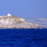 Kościół na Greckiej wyspie Fotografia Royalty Free