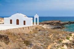 Kościół na Jońskim Dennym wybrzeżu Zakynthos Obraz Stock