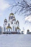 Kościół na krwi na cześć Wszystkie świętych Resplendent w Rosja Obrazy Stock