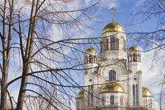 Kościół na krwi na cześć Wszystkie świętych Resplendent w Rosja Zdjęcie Stock