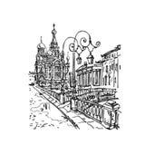 Kościół na Rozlewającej Krwi royalty ilustracja