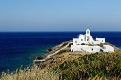 Kościół na Sifnos wyspie Obrazy Royalty Free