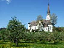 Kościół na wzgórzu zdjęcie stock