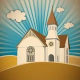 Kościół na wzgórzu ilustracji