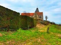 Kościół na wzgórzu Obrazy Royalty Free