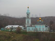 Kościół narodzenie jezusa Błogosławiony maryja dziewica - zabytek historia Zachodni okręg Moskwa zdjęcia royalty free