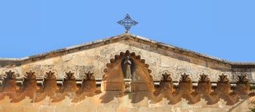 Kościół narzucenie krzyż i potępienie obrazy stock