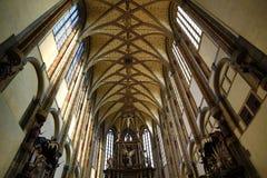 Kościół Nasz dama śniegi (czech: Panny Maria SnÄ› Å ¾ né) lokalizuje blisko Jungmann kwadrata w Praga, republika czech zdjęcia stock