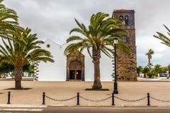 Kościół Nasz dama Candelaria, La Oliva -, Hiszpania Fotografia Royalty Free