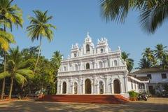 Kościół Nasz dama góra Carmel, Arambol, Goa obraz stock