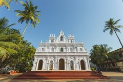Kościół Nasz dama góra Carmel, Arambol, Goa zdjęcia stock