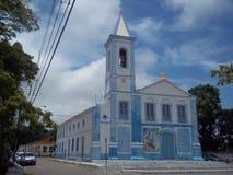 Kościół Nasz dama Neves historyczny centrum Iguape, Brazylia zdjęcie stock