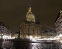 Kościół nasz dama nocą Obrazy Royalty Free