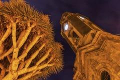 Kościół Nasz dama skała Francja w Puerto De La Cruz Zdjęcia Stock