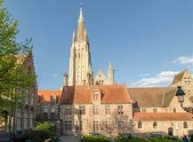 Kościół Nasz dama w Bruges, Belgia obraz royalty free