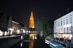 Kościół Nasz dama w Bruges, Belguim Obrazy Stock