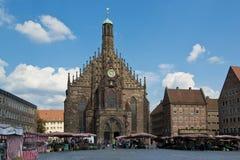 Kościół Nasz dama w Nuremberg Zdjęcie Royalty Free