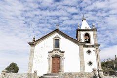 Kościół nasz dama wniebowzięcie w Linhares da Beira Dziejowej wiosce Obraz Stock