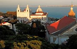 kościół niedaleko rzeki Lizbońskiego taje Portugal Zdjęcie Royalty Free