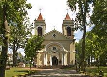 Kościół Niepokalany poczęcie maryja dziewica w Jozefow Polska Zdjęcia Stock