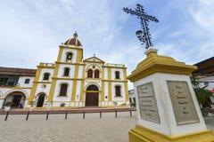 Kościół Niepokalany poczęcie w Mompox, Kolumbia obrazy royalty free