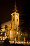 Kościół nocą Zdjęcia Royalty Free