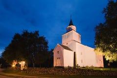 kościół noc po norwesku Obrazy Stock