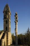Kościół Nuestra Señora de los angeles Asuncion, Krajowy zabytek, Mombuey Fotografia Royalty Free