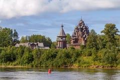 Kościół ochrona Theotokos, Rosja zdjęcie stock