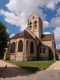 Kościół Oise jak malujący Van Gogh Obrazy Royalty Free
