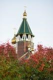 Kościół Ortodoksalna parafia matka bóg ikona Wszystkie dotknięty obrazy stock