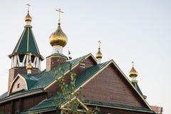 Kościół Ortodoksalna parafia matka bóg ikona Wszystkie dotknięty zdjęcie royalty free