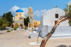 kościół ortodoksyjny santorini Oia greece zdjęcie royalty free