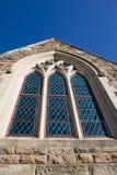 kościół oznaczony window2 szkła Zdjęcia Royalty Free