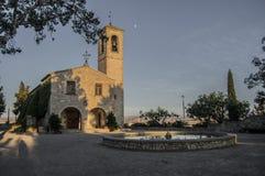 Kościół parkowy sant eloi Zdjęcie Royalty Free