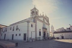 Kościół po środku Lagos miasta - Portugalia Fotografia Stock