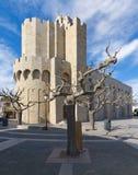 Kościół Prezbiteriański Saintes Maries De Los angeles Mer, Camargue, Francja - zdjęcia stock
