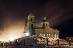 Kościół prezentacja władyka okręg Solomennoye Obraz Stock