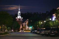 Kościół przy nocą Fotografia Royalty Free